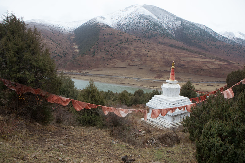 Stupa from afar